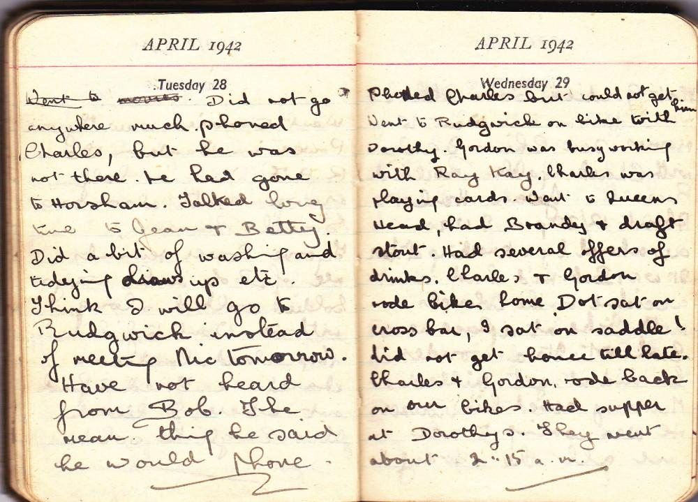 Cynthia's Diary – April 28 – 29, 1942