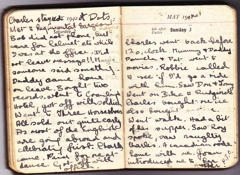 Cynthia's Diary – May 2 – 3, 1942