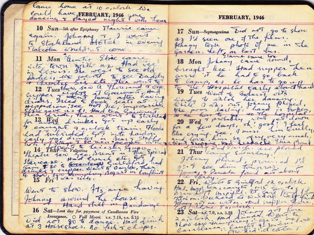 Cynthia's Diary – February 10 – 23, 1946