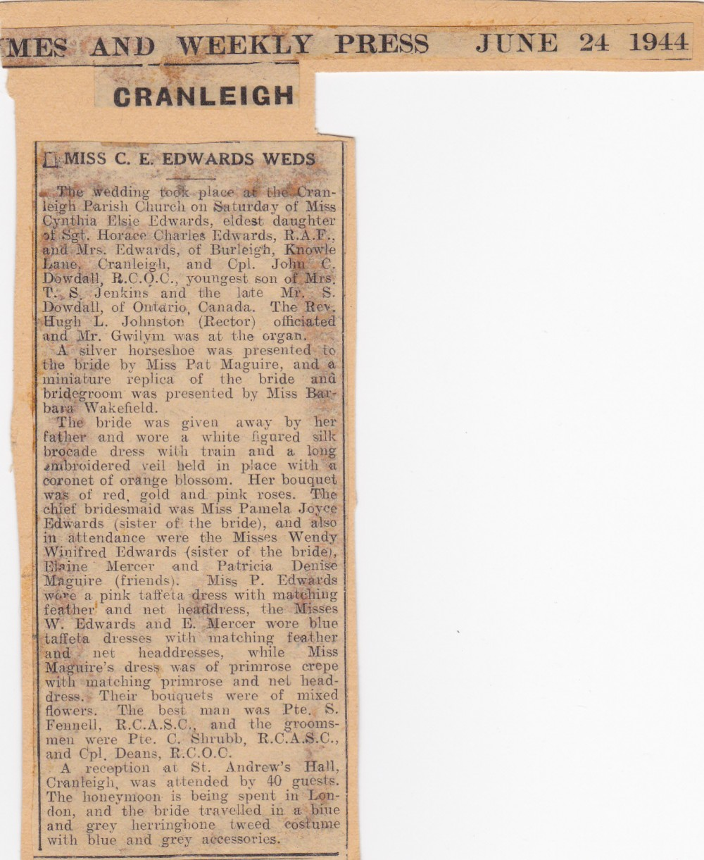 Cynthia's Diary – June 1944