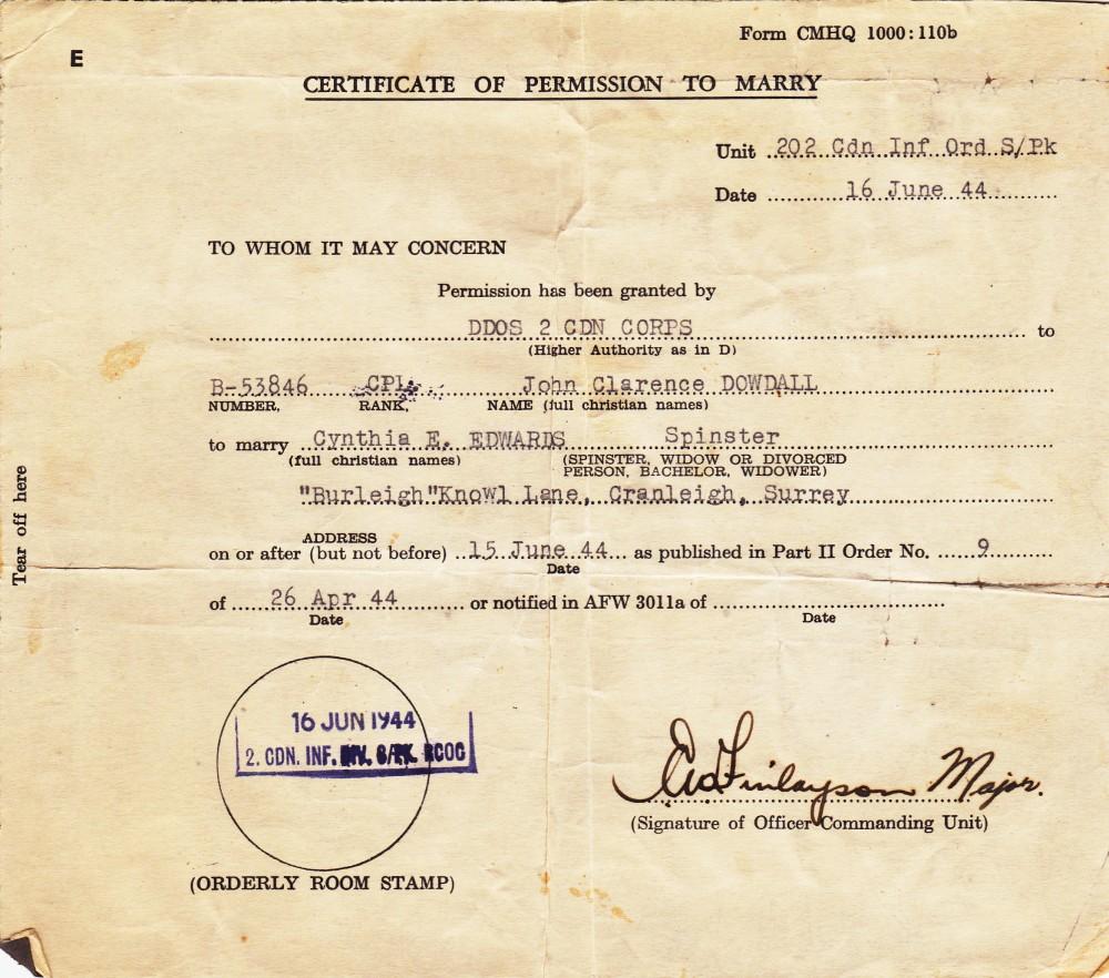 Cynthia's Diary – June 16, 1944